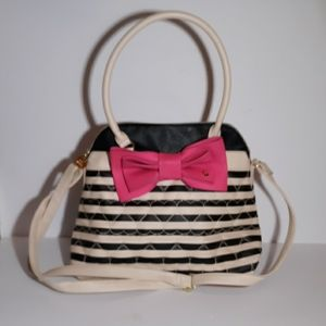 Betsy Johnson quilted hearts bag